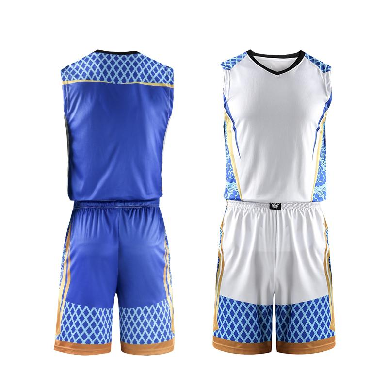 Suit College Mens <font><b>Basketball</b></font> Uniforms Shirts Breathable Custom