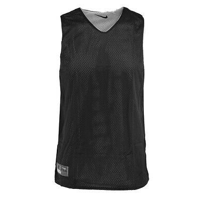 men s reversible basketball practice jersey black