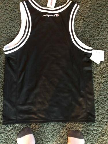 Men's Vintage Champion Black Basketball Jersey Sz 40 NWT