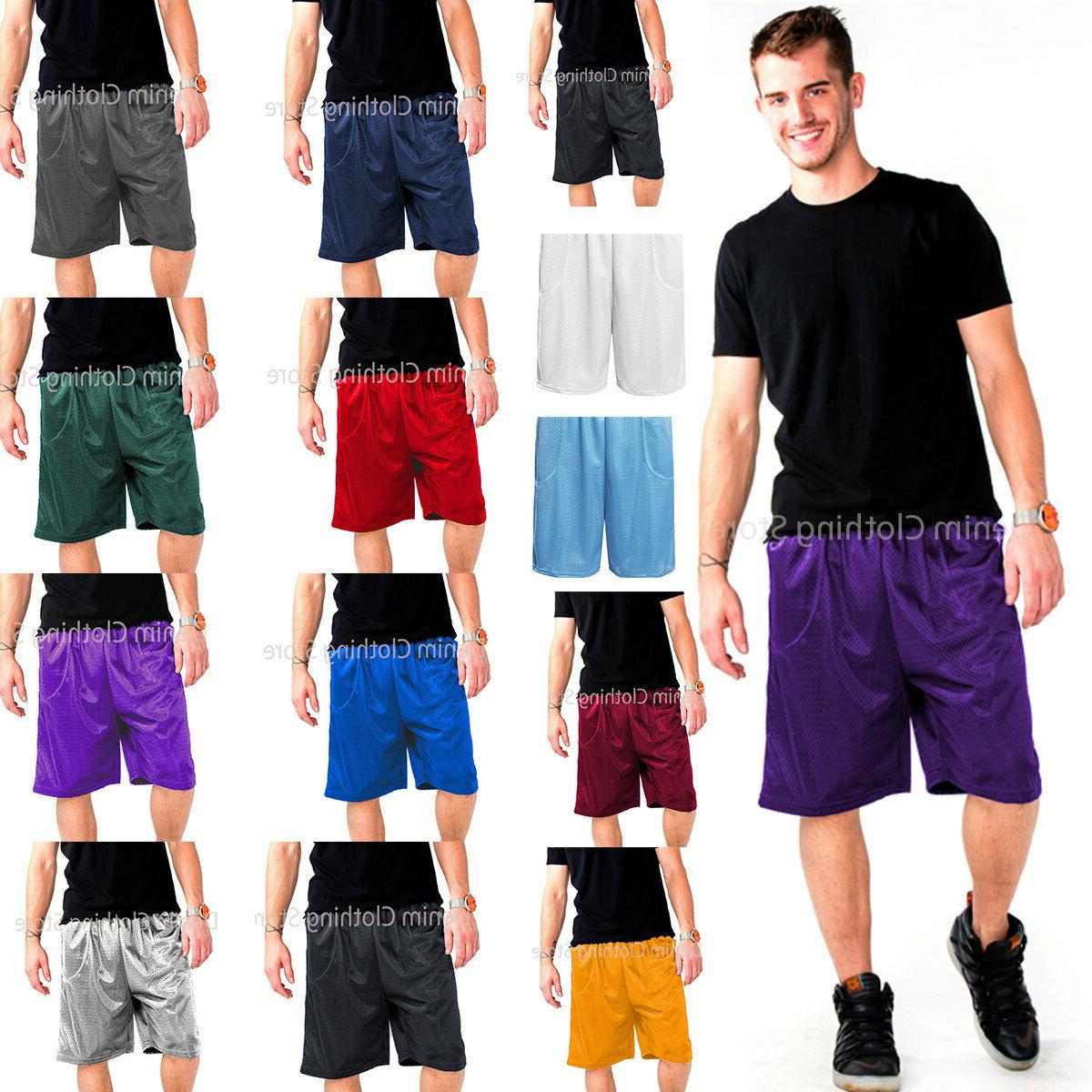 mens athletic jersey 2 pocket mesh shorts