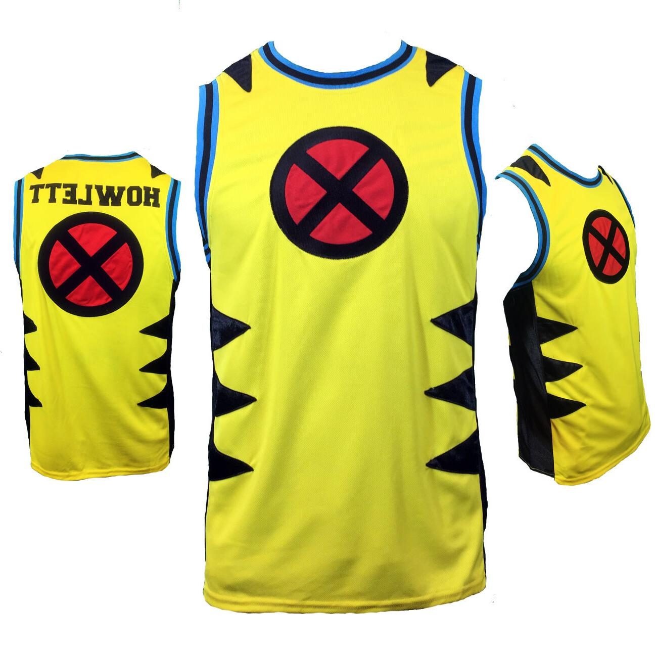 mens basketball jersey tank wolverine x men
