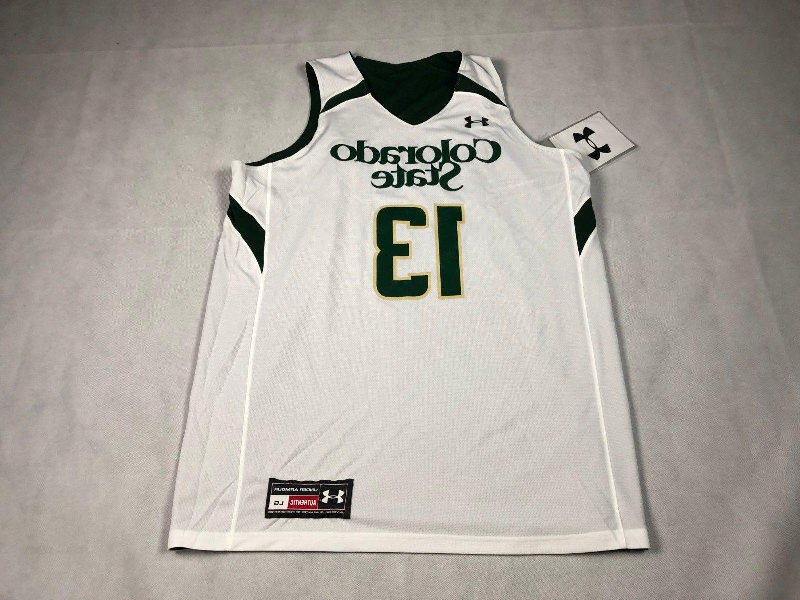 UNDER L BASKETBALL REVERSIBLE JERSEY COLORADO STATE