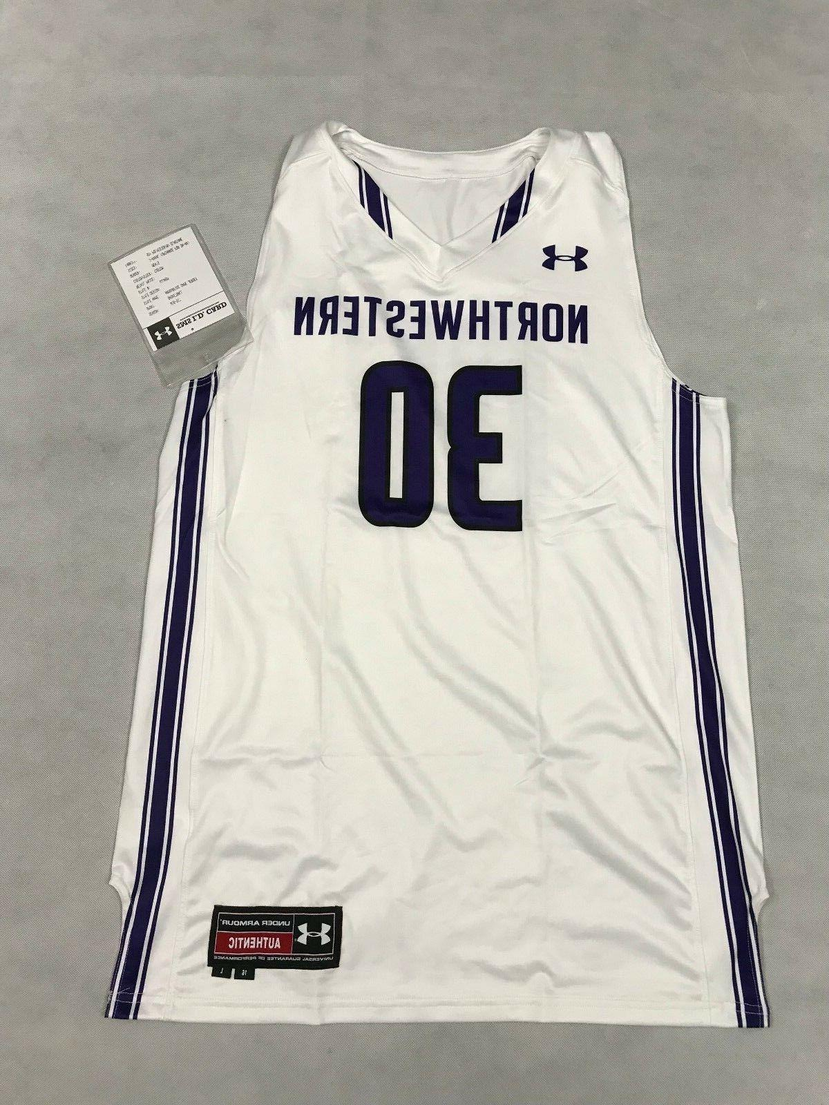 mens large northwestern wildcats basketball jersey 30