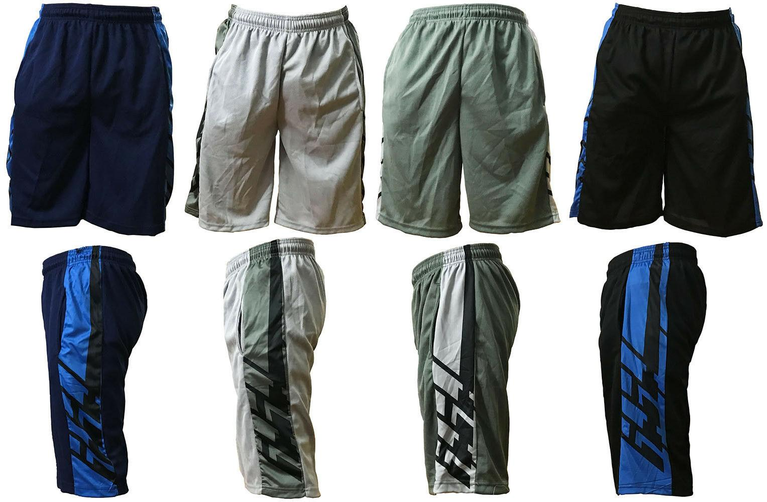 mens mesh shorts basketball two tone pants