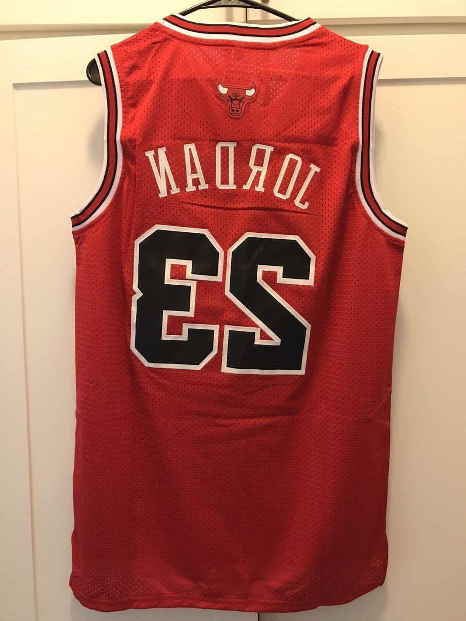 Throwback Jersey Swingman Basketball Jersey  #23 Chicago Bul