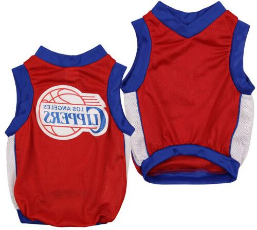 nba los angeles clippers basketball dog jersey