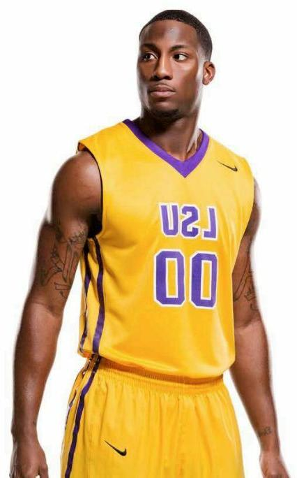 New Nike LSU Respect Hyperelite Basketball Jersey Men's L #0