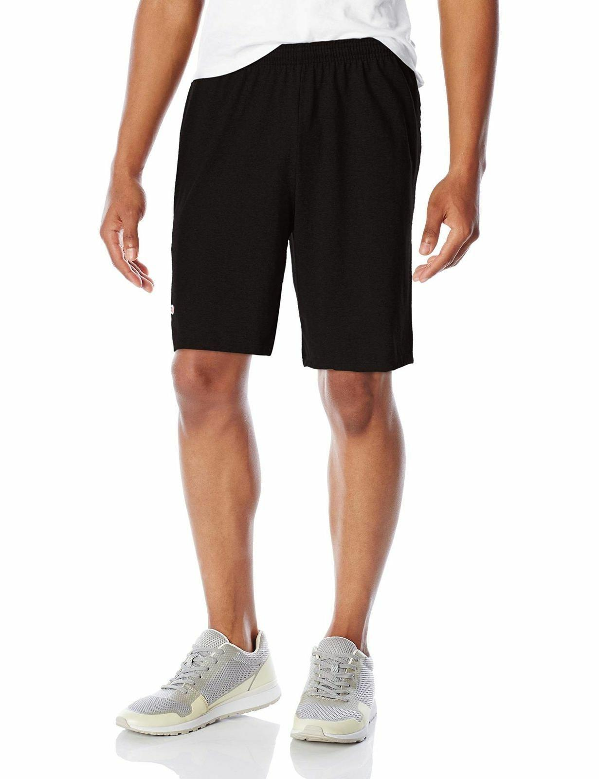 NEW Champion Men's Jersey Short Pockets XL Logo Inseam Athleisure