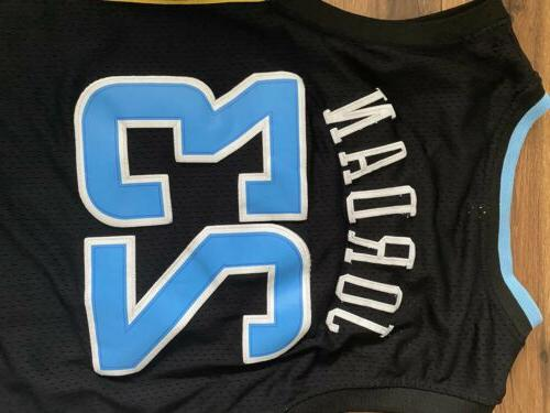 New- Vintage UNC Black Throwback College Jersey Size