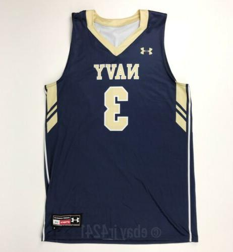 new navy midshipmen armourfuse basketball jersey men