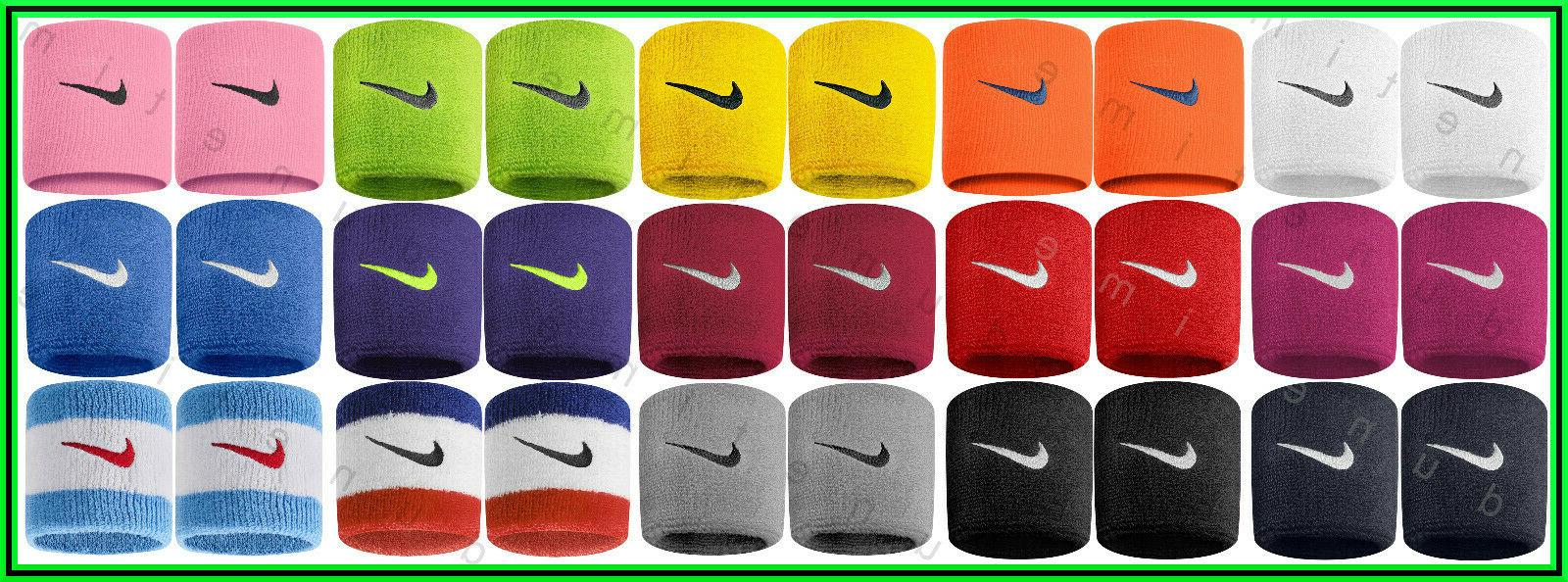 new swoosh wristbands 2 pack 3 singlewide