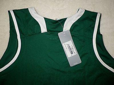 NEW Womens Pro Team Sports Mesh Jersey Green White Sz