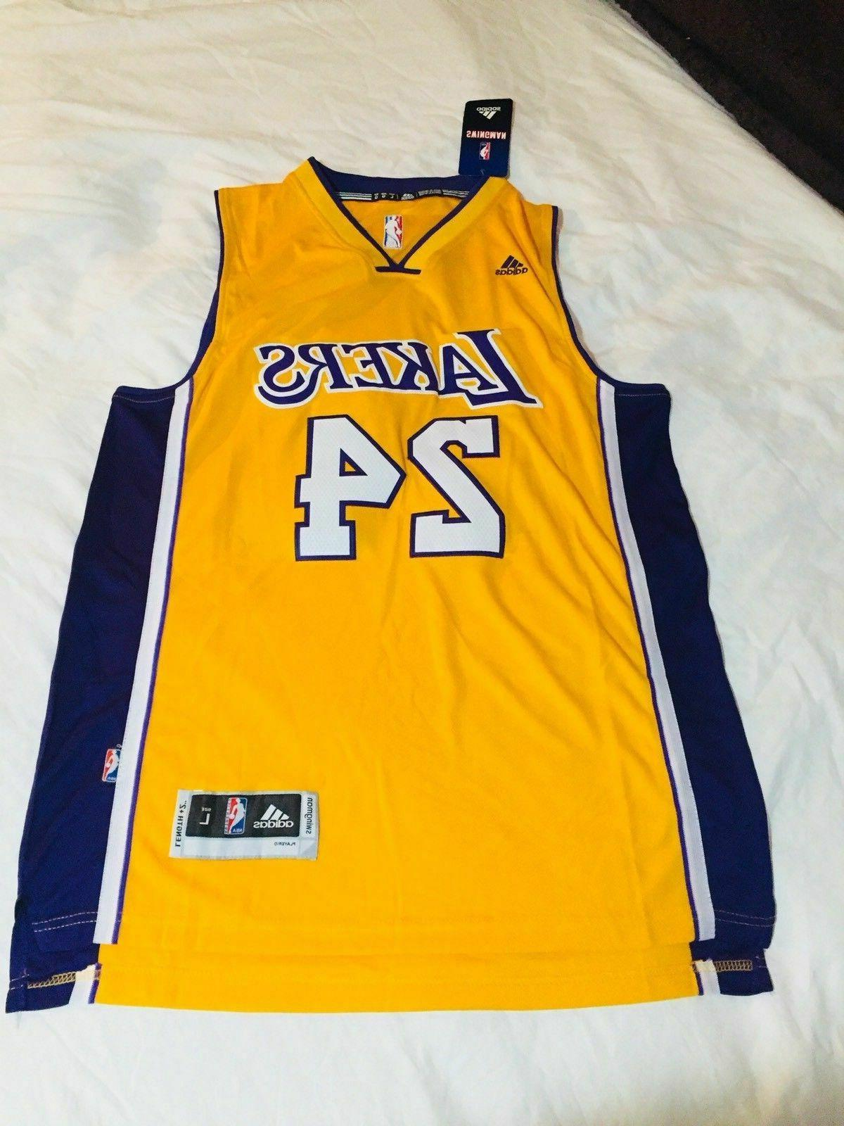 nwt kobe bryant lakers home yellow stitched