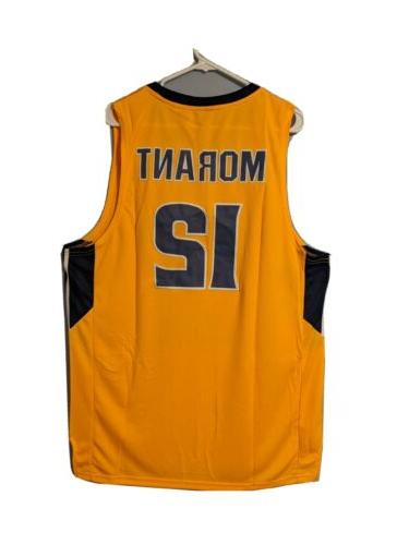 NWT State Ja Morant Yellow Jersey Mens Sizes S-XL
