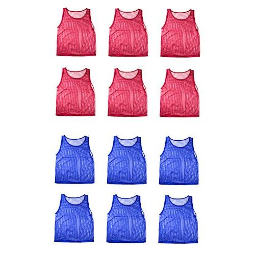 Nylon Scrimmage Practice Vests for Sports Basketball, Soccer,