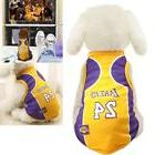 Pet Dog James Kobe Basketball Jersey Puppy Party Custome Ves
