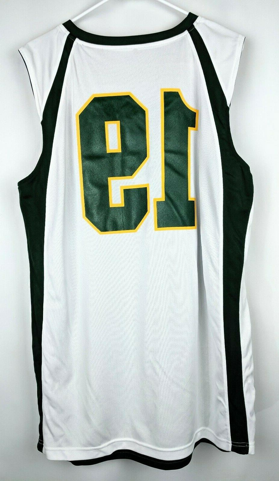 Alleson Reversible Basketball Jersey Large Throwback Green