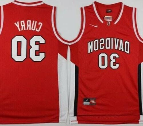 stephen curry davidson wildcats red college mens