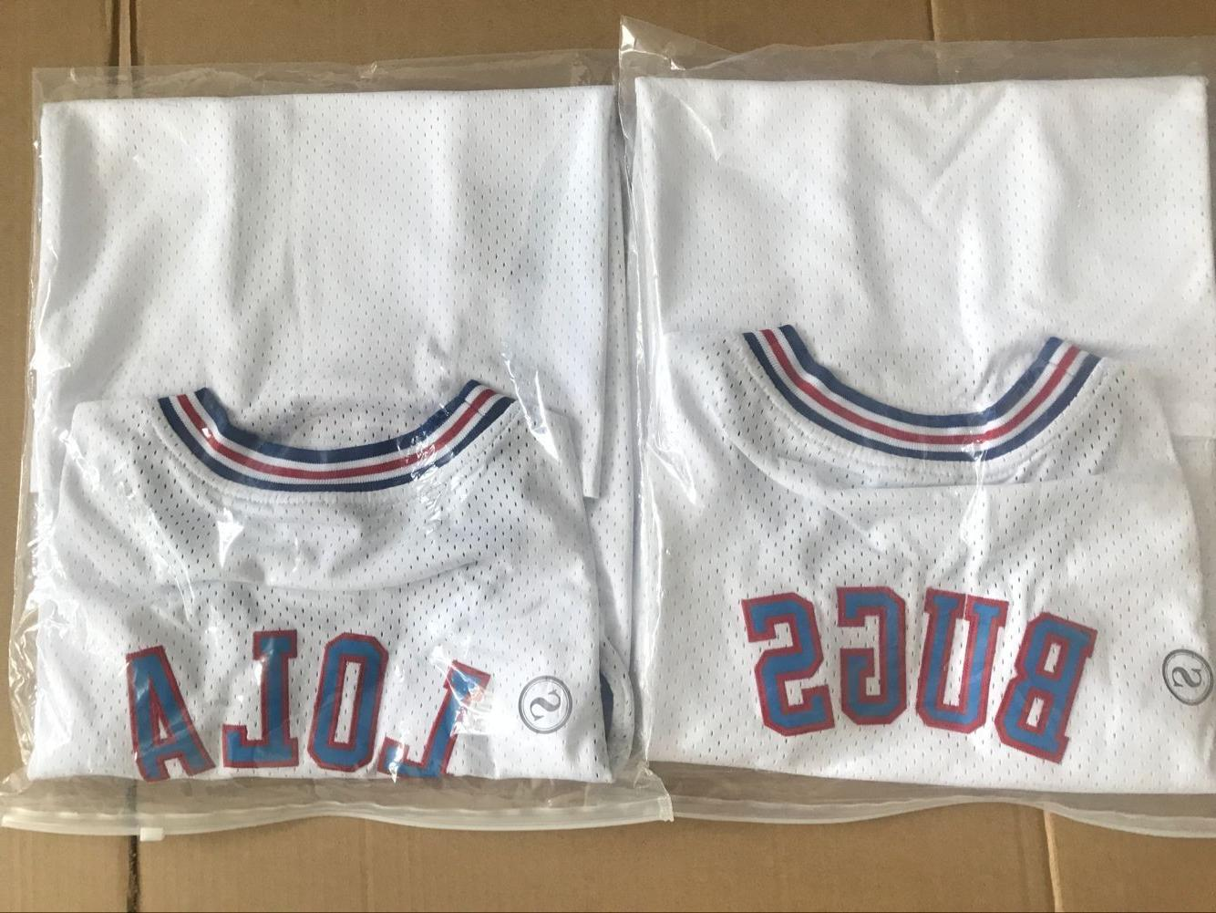 Space Jam Tune-Squad Basketball Jersey White Stitched S-3XL
