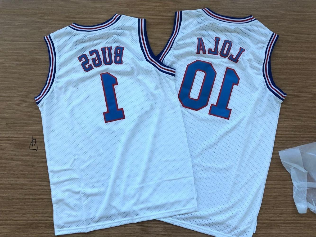 Tune Squad Space Jam Basketball Jersey Lola Bunny#10 Bugs Bu