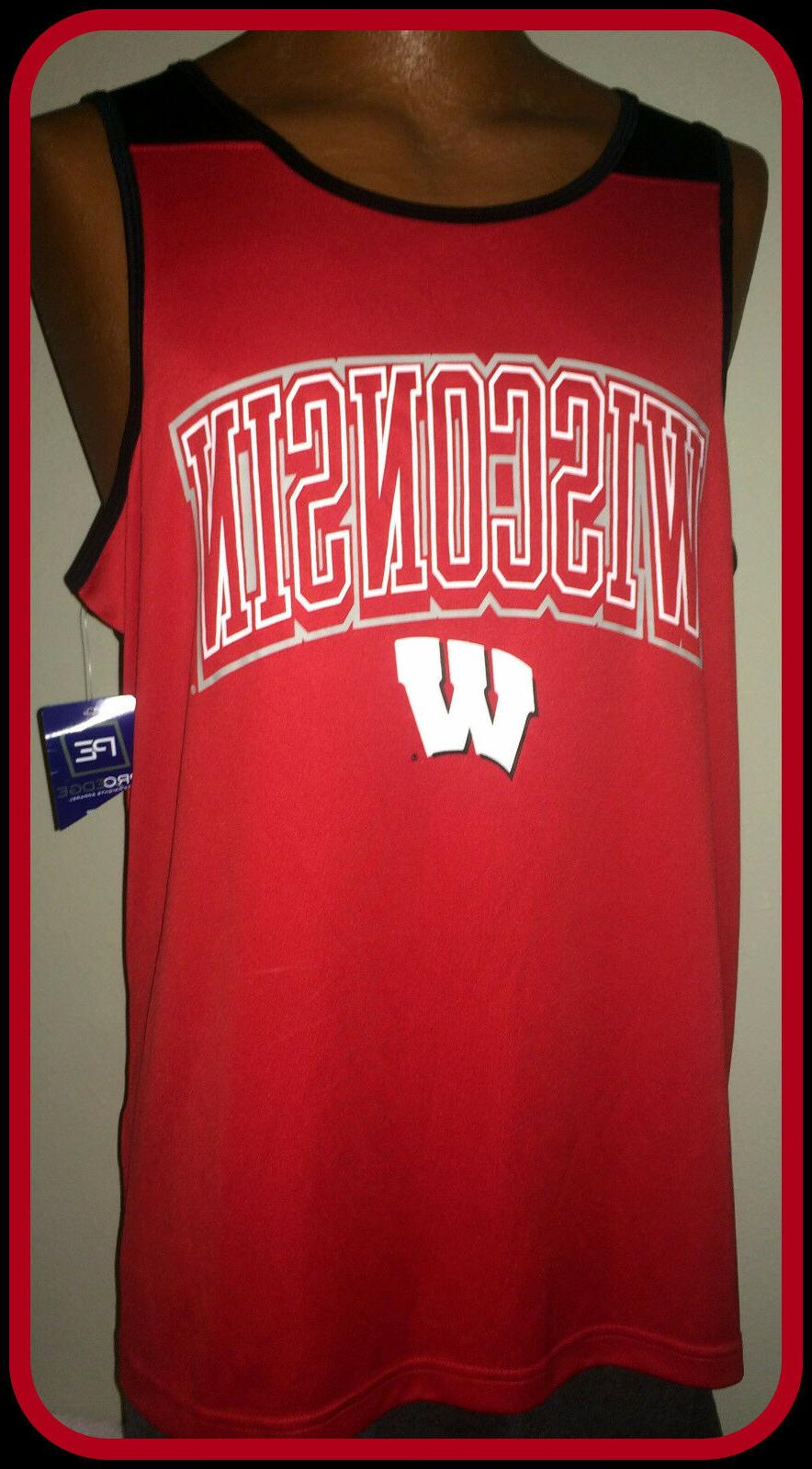 WISCONSIN BADGERS KNIGHTS APPAREL PRO EDGE BASKETBALL ADULT