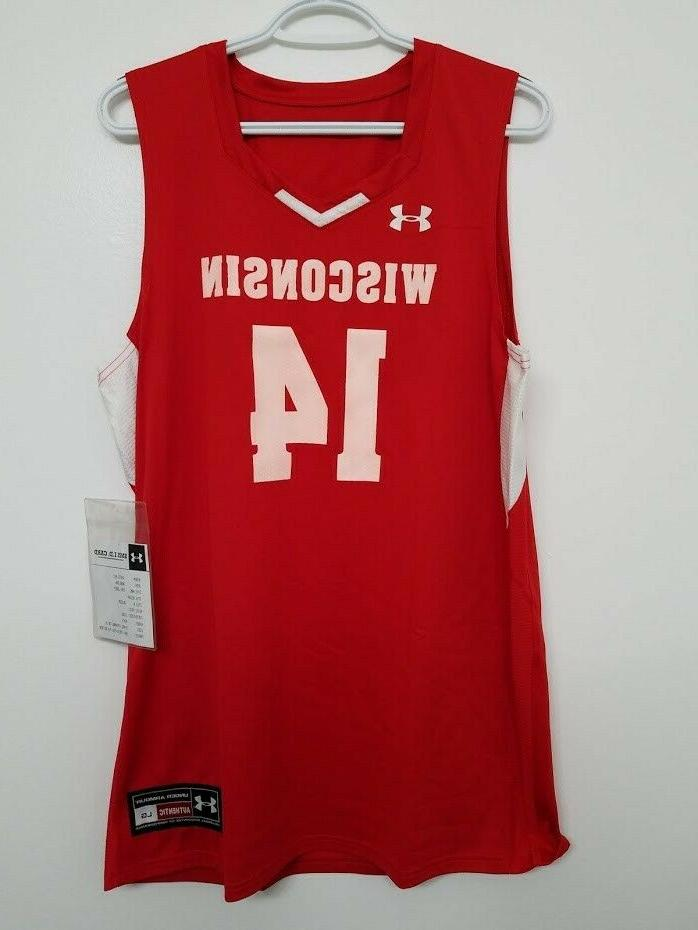 wisconsin college basketball jersey size large