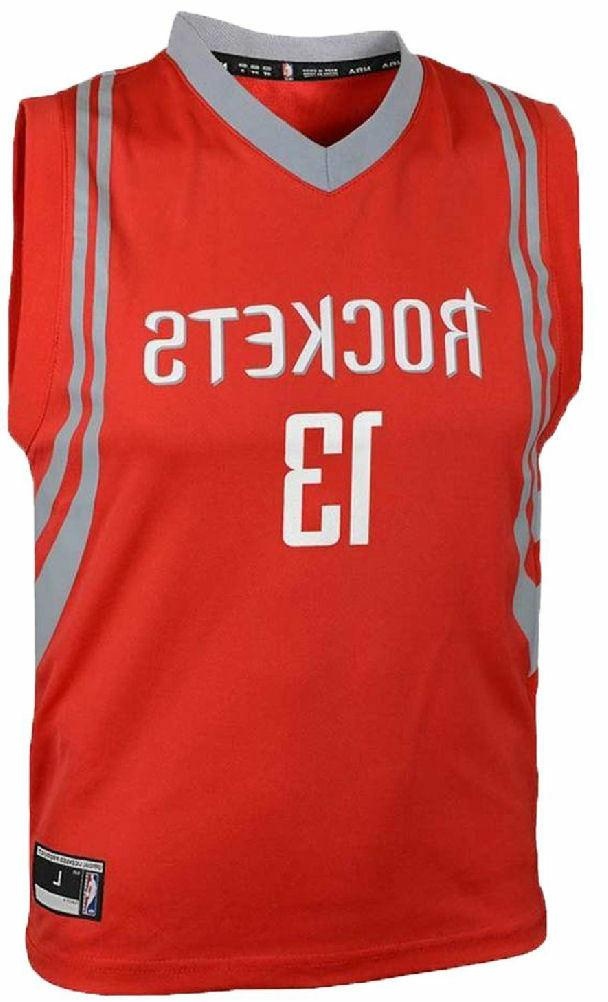 Youth James Harden Rockets Red Basketball Jersey Outerstuff