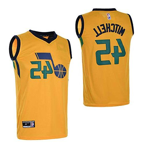 low priced b3eea 4aa21 OuterStuff Youth Utah Jazz #45 Donovan Mitchell Kids Basketball Jersey