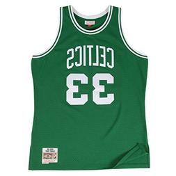 Larry Bird Boston Celtics Mitchell and Ness Men's Green Thro