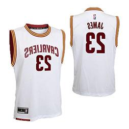 Lebron James Cleveland Cavaliers White Home Replica Youth Je
