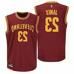 Outerstuff LeBron James Youth Cleveland Cavaliers Wine Repli