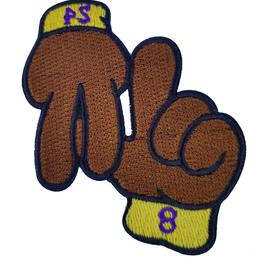 Los Angeles Hands Patch LA Lakers Basketball Jersey Patch Ir