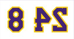 Los Angeles Lakers #8 #24 STICKER DECAL NBA basketball jerse