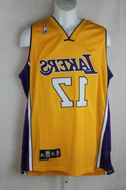 Los Angeles Lakers Andrew Bynum Basketball Jersey Gold New