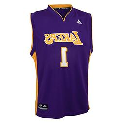 NBA Boys 4-7 Los Angeles Lakers Russell Away Replica Jersey-