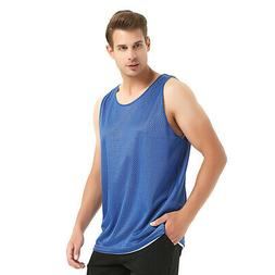 TopTie Men's Basketball Jersey Tank Top Reversible Mesh Lacr