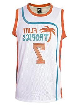 "MOLPE Men's Coffee Black 7"" Flint Tropics Basketball Jersey"
