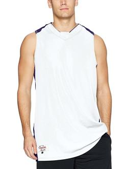 Intensity Men's Diamond Basketball Jersey, White/Purple, XX-