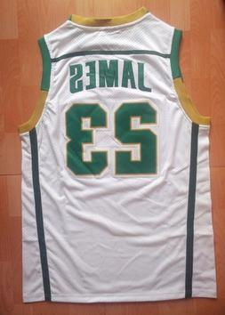 Men's LeBron James #23 High School Basketball Jerseys Throwb