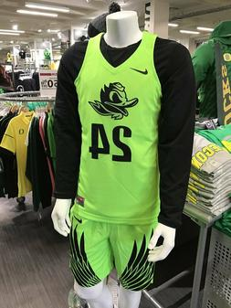 mens S/M/L/XXL nike oregon ducks basketball #24 sewn authent