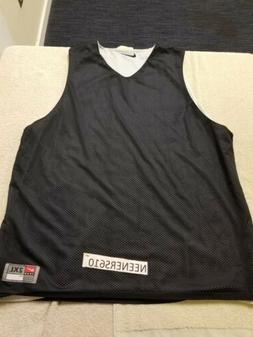 Men TEAM NIKE Black / White Reversible Training Basketball P
