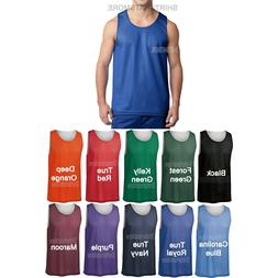 Mens Mesh Reversible Jersey Basketball Team Tank Top Shirt T