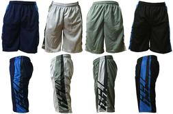 Mens Mesh Shorts Basketball Two-Tone Pants Fitness Jersey So
