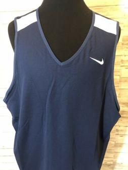 Men's NWT Nike Reversible Basketball Jersey Navy&White 3XL