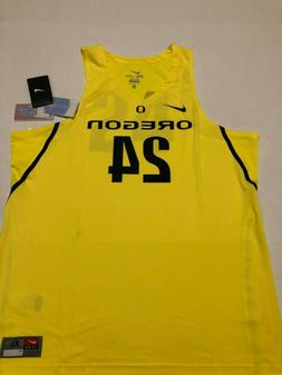 Nike Mens Oregon Ducks #24 Replica Basketball Jersey Yellow