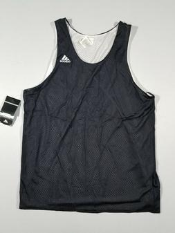 ADIDAS Mens Reversible Basketball Practice Jersey | Black/Wh