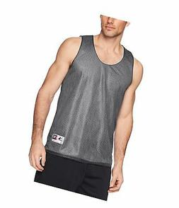 Augusta Sportswear Mens Tricot Mesh Tank Black/White Medium