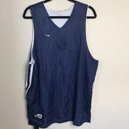 Nike Mens XL Reversible Basketball Practice Jersey Blue/Whit