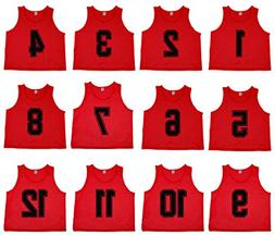 Oso Athletics Set of 12 Premium Mesh Numbered Scrimmage Vest