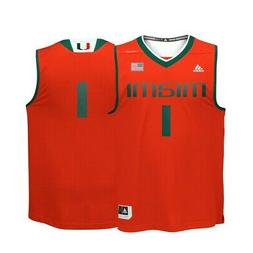 Miami Hurricanes NCAA Adidas #1 Orange Replica Basketball Je